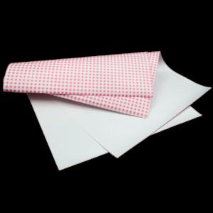 Papier duplex vichy rose 25x33cm