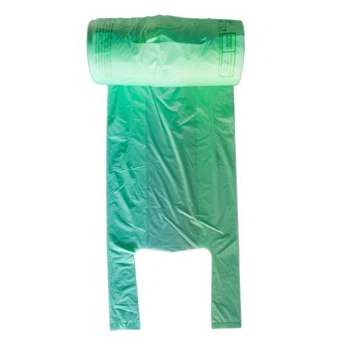 Sacs à bretelles bio en rouleau 23+12x45 cm
