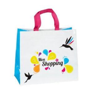 Cabas shopping en PP tissé 32+14x32 cm