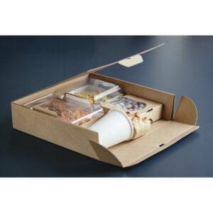 Coffret repas rempli et ouvert 30x29,2x7,2 cm