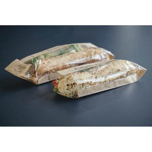 Sac à sandwichs sécable et refermable 10+4x40 cm