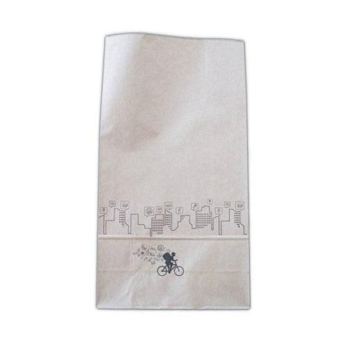 Sac papier fond plat Delivery 22+10x40 cm